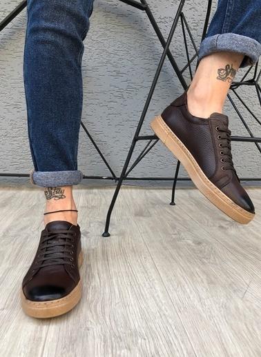 MUWAGO Hakiki Deri Sneakers Kahve